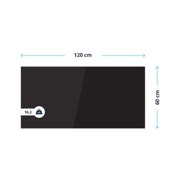 BVF Fekete üveg infrapanel méretek