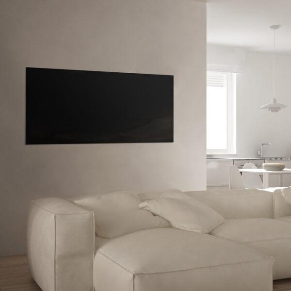 Fekete üveg infrapanel 1200x600