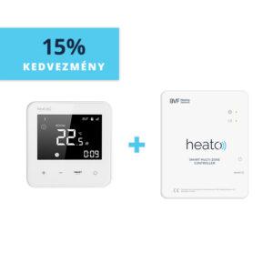 BVF Heato9 WiFi termosztát + BVF Heato Box internetes zónavezérlő
