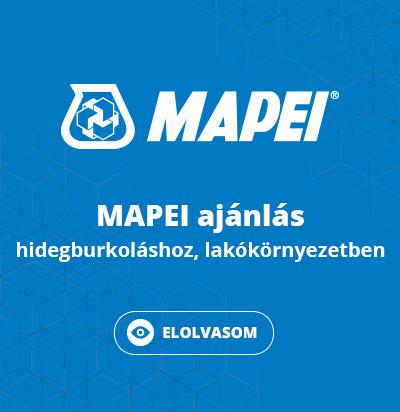 MAPEI ajánlás BVF padlófűtésekhez