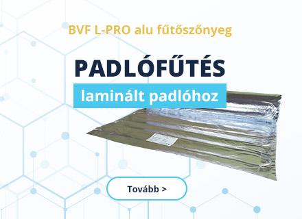 BVF L-PRO alu fűtőszőnyeg laminált padló alá